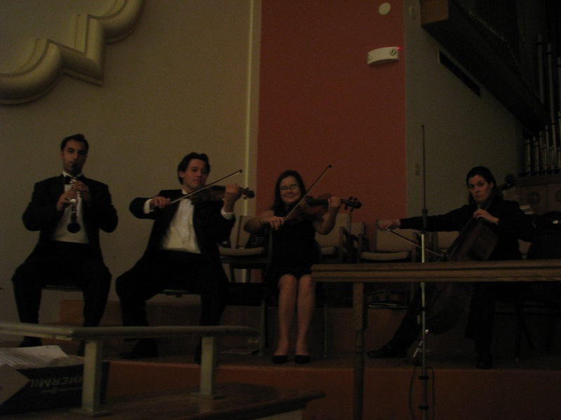 Clarinet, violin, viola and cello Quartet