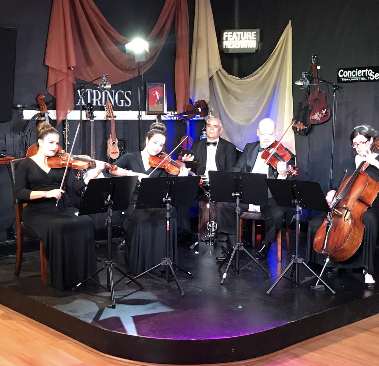 Strings and percussion quintet